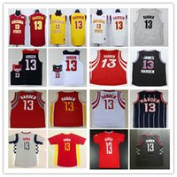 Wholesale Cheap Purple Clutches - Cheap Mens 13 James Harden Jersey Red Clutch City Blue Black White Yellow Arizona State Sun Devils College James Harden Basketball Jerseys