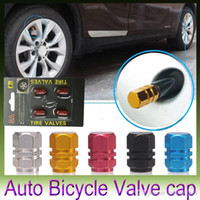 Wholesale New pack Theftproof Aluminum Car Wheel Tire Valves Tyre Stem Air Caps Airtight Cover hot selling