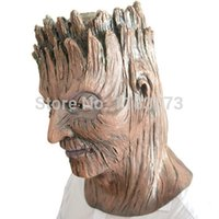 Wholesale Wholesaler Latex Material - Wholesale 10pcs lot EMS Halloween Treefolk latex Mask eco-friendly material Top selling Magical Dryad Halloween Cosplay Masks