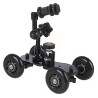 "Wholesale Mini Dolly Camera - 7""Adjustable Friction Articulating Magic Arm+Mini Desktop Camera Rail Car Table Dolly Car Video Slider"