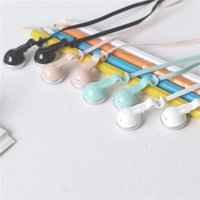 Wholesale Headphone White - Sibyl M122 Earphone Sport Headset Headphone with Package Microphone 4 Candy Colors Pink Green White Black for All Phone