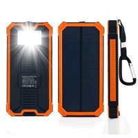 Neue Top 300000mAh Portable Solar Power Bank Dual USB LED Backup Ladegerät Akku