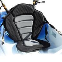 Wholesale sitting bags - Hot New Deluxe Adjustable Padded Kayak Seat + Detachable Back Bag Canoe Backrest Deluxe Padded Kayak   Boat Seat