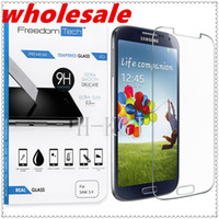 Wholesale Mirrored Screen Protector S4 - wholesale Premium Real Tempered Glass Film Screen Protector for SAMSUNG Galaxy S4 i9500