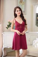 Wholesale Pink Babydoll Lingerie - Sexy Women Lingerie Lace Dress Babydoll Underwear Nightwear Sleepwear G-string