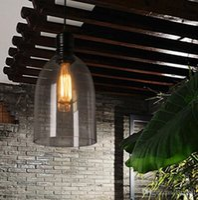Wholesale Vintage Glass Lamp Shades - Pendant Light Fixture Vintage Pendant Lamp Glass Shade with Free E27 Edison Bulb Guaranteed 100% Retro Industrial DIY Ceiling Lamp