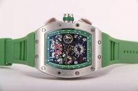 marcas relógio mecânico preço venda por atacado-Top Marca De Luxo Felipe Massa Flyback Mecânico Automático Relógio De Borracha Preta Mens Esqueleto Atacado Menor Preço Men Stainless Wristwatch