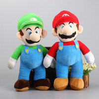 Wholesale Super Mario Plush Figures - 2 Style 25CM MARIO & LUIGI Super Mario Bros Plush Doll Stuffed Toys For Baby Good Gifts