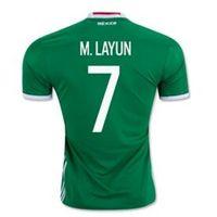 Wholesale National Soccer Jersey Wholesale - Thai Quality Customized 2016-18 national team Mexico home 7 M. LAYUN Soccer Jerseys,9 R. JIMENEZ 22 p.aguilar Soccer WEAR shirts