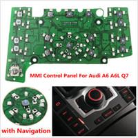 navegação por gps china venda por atacado-Placa de circuito do painel de controle dos multimédios MMI com navegação E380 para AUDI A6 A6L Q7 GPS