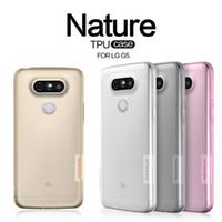 Wholesale Nexus Slip - Best ultra thin Nillkin Nature TPU case clear anti slip shock absorb protect gel for LG G5 G4 V10 Nexus 5X