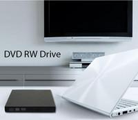 Wholesale Dvd Rom Drives - External DVD burner USB 2.0 CD±RW DVD±RW ROM DL High-speed cassette mechanism Burner Computer 24x Drive Recorder Optical Drive Burner Player