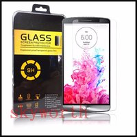 Wholesale Nexus Screen Protector Retail - 9H Premium Tempered Glass Screen Protector Explosion proof for LG G2 G3 Mini L70 L90 L80 LS660 Nexus 4 5 W  Retail Package
