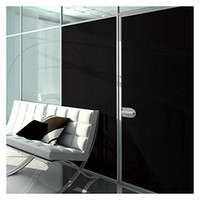 Wholesale vinyl coat black - 0% VLT Blackout Privacy Window Film Stickers Opaque Black Residential Glass Tint Decal COATING FOIL SIZE 1.52x30m=5x98ft