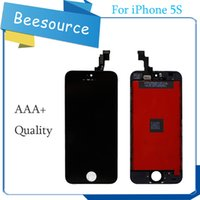Qualità AAA per Iphone 5 / 5S / 5C / SE Display LCD OEM con Touch Screen Digitizer Assembly in bianco e nero Spedizione gratuita DHL