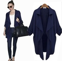 Koreanischen Stil Strickjacke Chiffon Kaufen -Fall-Kleidung für Frauen Nizza neue koreanische Art Plus Size Coat Elegant Chiffon Langarm-Cardigan Anti-Sun Jacket Trench Coats für Frauen