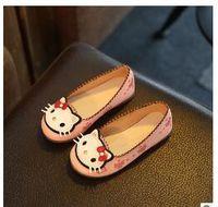Wholesale Cute Shoes For Toddler Girls - Children Shoes Girls Princess Hotsale Cute Flower Pink Toddler Little Dance Designer Kids Shoes For Girls Size 21-36