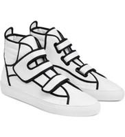 Wholesale European Size 46 - sizes 36-46 2016 European fashion brand new RAF SIMONS high top casual shoes for men women good quality Genuine Leather sneakers trainers