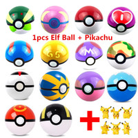 Wholesale Action Love - 7CM 13 Style Arpa Trainer Pokeball Love Park Ball Masterball GS Ultra Dive Action Figures Doll Japan Anime Toys with Pikachu