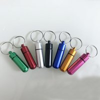 Wholesale waterproof capsule container for sale - Group buy 4 sizes Small EmergencyBottle Portable Keychain Box Sealed Waterproof Storage Cassette Keychain Capsule Storage Container Travel Splitters