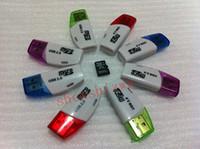 Wholesale 2gb Mini Sd Card - New moon shape High Speed mini crystal USB 2.0 TF Flash T-Flash Memory Micro sd card reader adapter for 2gb 4gb 8gb 16gb 32gb 64gb TF Card