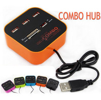 Multi Card All-In-One COMBO 3 porte USB 2.0 Hub Adapter lettore di schede USB per SD NMC M2 micro SD MS DHL OTH225