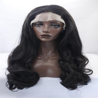 Wholesale African American Baby Hairstyles - kabell Fashion wig lace front wigs Synthetic Hair Wave Lace Front Wigs With Baby Hair Pre Plucked For African Americans Natural Color wig