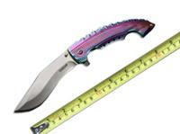 Wholesale cold steel 57hrc resale online - Pocket Knife Cold Steel Spartan Folding Knife StoneWash Cr15Mov HRC Color Handle Pocket Survival Camping Knife F722L