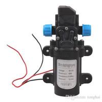 Wholesale 12v Dc Mini Pump - Wholesale DC 12V 60W Mini Micro Diaphragm High Pressure Water Pump Automatic Switch 5L min H210417