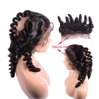 Wholesale Full Spiral - Peruvian Aunty Funmi 360 Lace Band Frontal Loose Wave Spiral Curly Full Lace Frontals Closure Ear To Ear Human Hair Lace Front