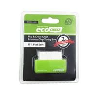 Wholesale Drive Box Bmw - EcoOBD2 Chip Tuning Box ECO OBD2 Benzine Petrol Cars Plug Drive OBDII Diagnostic Tool Retail Box 15% Fuel Save