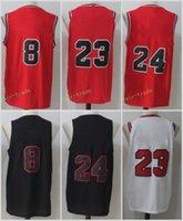 Wholesale New Style Fan - 2017-18 New Style 8 Zach LaVine Jersey Men Black White Red Basketball 24 Lauri Markkanen Jerseys For Sport Fans All Stitched High Quality