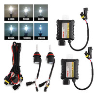 kit h13 55w caché achat en gros de-55W HID Xenon Headlight Conversion KIT H13-3 4300K ​​5000K 6000K 8000K 10000K 12000K Car Led Ampoules High / Low Beam Halogène