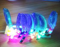 mikro lächeln kabel großhandel-Universal LED Luminous Lächelndes Gesicht Lächeln Micro USB Kabel 2.0 Sync Daten Gebühr MicroUSB Für Android Tablet Samsung Xiaomi Smartphone