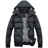 Wholesale black turtleneck jacket - Winter Jacket Cotton-padded Hooded Men's jackets US size Men Hoodies Thick Warm Waterproof Windbreaker Anti Cold Jacket