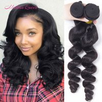 Raw indiano Loose Wave Cabelo Humano Weave 2 Bundles Indian Loose Wave Extensões de Cabelo Humano Cheap Indian Loose curls Cabelo Humano em massa Tramas