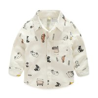 Wholesale Cars Cute - Christmas New Kids Boys Cars Print Cotton Fall Shirts Long Sleeve Western Cute Boys Fashion Tops