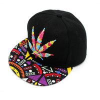 DHL Livraison rapide 1 de Baseball Cap Colorful Maple Leaf Baseball Hat Hip-hop Rasta Maple Leaf Pot Flat Pop Bill Snapback 420 420pot cap