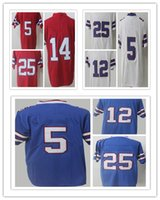 2017 Vendita Calda 12 Jim Kelly 25 <b>LeSean McCoy Jersey</b> 5 Tyrod Taylor Sammy Watkins maglie Thurman Thomas Stitched colore rush rush limitata