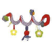bebé musical animal al por mayor-Nueva cama de bebé alrededor del cochecito de bebé colgando campana sonajero móvil de juguete de felpa bebé paño de felpa arte cama juguetes educativos