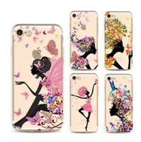 Sexy Pretty Hot Cute Magic Girl Butterfly сотовый телефон Мягкий чехол для iphone 8 8P 7P 7 6 6s плюс 5 5s se Cover Fashion