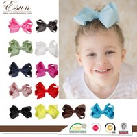 Wholesale Baby Hair Clips Supplies - Cheap 2016 hot sale Children's hair and baby baby bowknot hairpin hairpin ladies headband accessories supply
