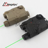 Wholesale High Torch Laser - Magaipu Tactical AN PEQ-15 Cheap edition green Laser Torch IR For Hunting Outdoor Black Dark Earth