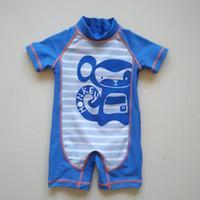 ingrosso vestito da bambino-0-2Y) Scimmia sunsafe vestito UV-Schutz bekleidungs set surf suit sunga infantil bebek mayo, maillot de bain bebe, ragazzi rash guard spedizione gratuita