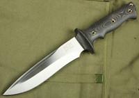 düz bıçak taktik toptan satış-Klasik Walter Brend Taktik düz bıçak AUS-8 59HRC Saten Blade Micata Naylon kılıf ile Açık kamp sağkalımı bıçak Kulp