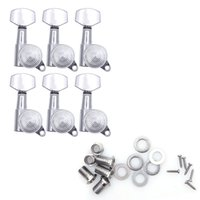 Wholesale Guitar Locking Tuning Pegs - Wholesale- Guitar Accessories 6R Guitar String Tuning Pegs Locking Tuners Keys Machine Heads Chrome Set