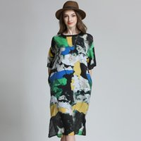 Wholesale Dresses Chiffon Plus - PP Plus Size Brand New 2016 Summer Dresses For Women Chiffon Causal Mixed colors Special Print Dress Women Clothing