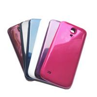 ingrosso rosso s4-Nuovo alloggiamento Telaio centrale Copri batteria Porta posteriore per Samsung Galaxy S4 mini Bianco / Nero / Blu / Rosso / Viola / Mei rosso