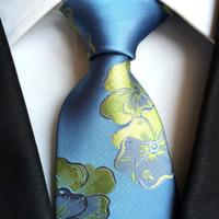 ingrosso legame azzurro semplice-Nuovi cravatte a mano da uomo cravatte di seta cravatta jacquard cravatta da sposa di promenade cravatte da collo affari formale cravatte moda strisce plaid dot cinghie A176