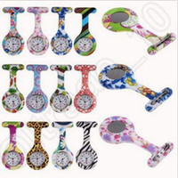 Wholesale Nurses Watches New Design - Silicone Nurse Watch Medical Nurse Watch Printed Pattern Fob Quartz Watch Doctor Watch Pocket Medical Watch 37 Designs CCA4381 3000pcs
